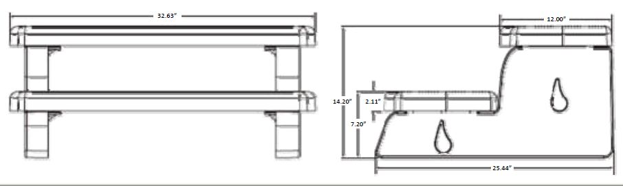 hot tub steps measurements